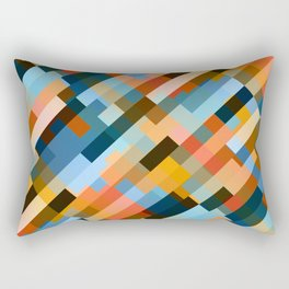multicolored striped pattern Rectangular Pillow