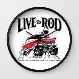 1955 CHEVY CLASSIC HOT ROD Wall Clock
