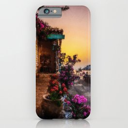 Taverna By The Sea Oil Painting iPhone Case