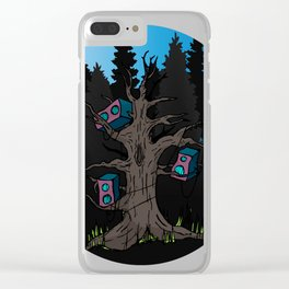 Speaker Trees Clear iPhone Case