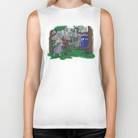 hallion Biker Tanks featuring Visions are Seldom all They Seem by Karen Hallion Illustrations
