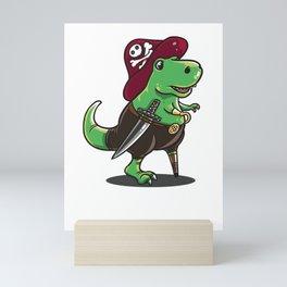 Funny Dino Pirate design - perfect gift Mini Art Print