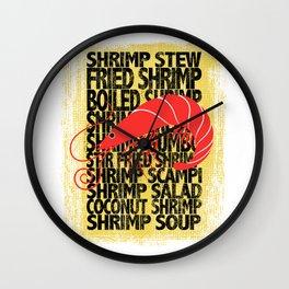 Shrimp According to ... Wall Clock