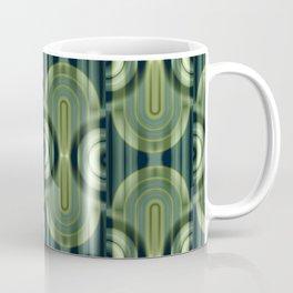 Pattern Retro Style green Coffee Mug