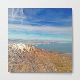 Flying over Utah Metal Print