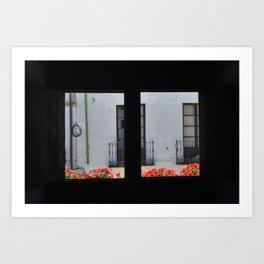 Flowery window. Spain Art Print