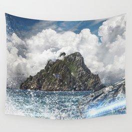 The Force Awakens Warship In Sea Digital Print Wall Tapestry