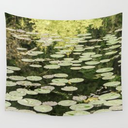 Lilies Green Camouflage Wall Tapestry