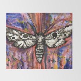 Splatter Moth Throw Blanket
