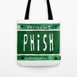 Phish license plate Tote Bag