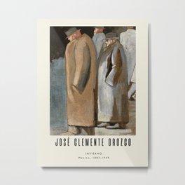 Poster-José Clemente Orozco-Invierno. Metal Print