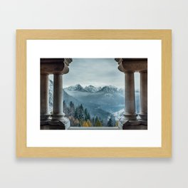The view - Neuschwanstin casle Framed Art Print