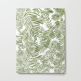 Areca Palm Pattern Metal Print