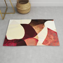 Baroque Burgundy Copper Ivory Maximum Abstract Art Rug