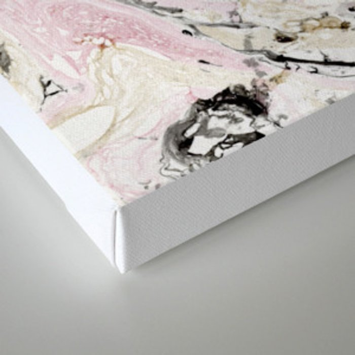 Pink and gold marble Canvas Print