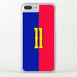 soccer team jersey number eleven Clear iPhone Case