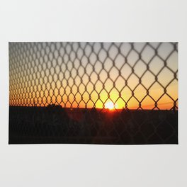 Sunset over the Fence Rug