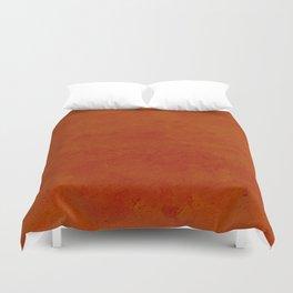 concrete orange brown copper plain texture Duvet Cover