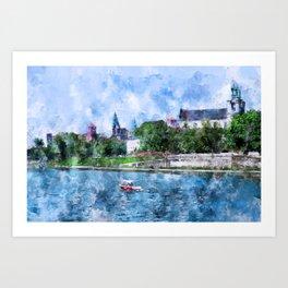 Cracow art 19 #cracow #krakow #city Art Print