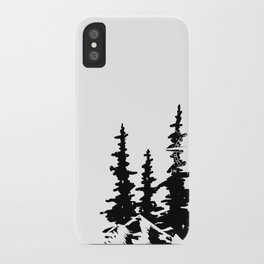 Trees and Compass iPhone Case