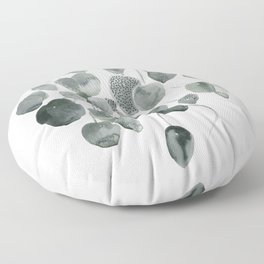 Plant with round leaf Floor Pillow