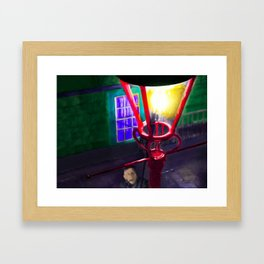 Let There Be Gaslight Framed Art Print