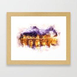 Holy Angel Bridge and St. Peter's Basilica Framed Art Print