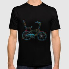 Aztec Bicycle Black Mens Fitted Tee X-LARGE