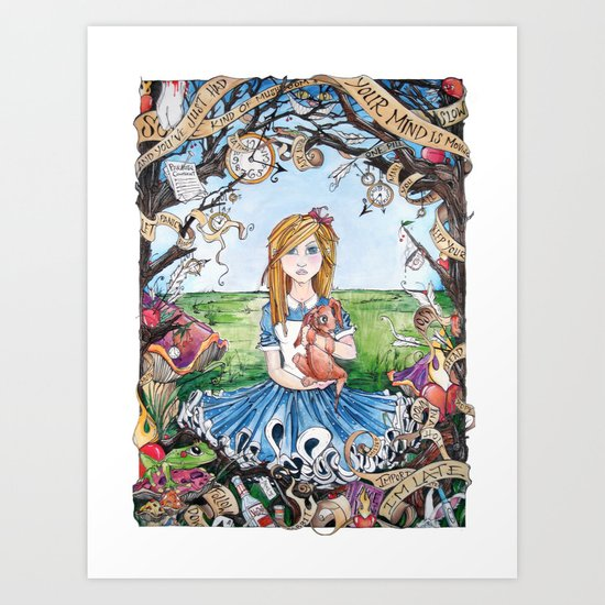 Just Ask Alice ..... Art Print