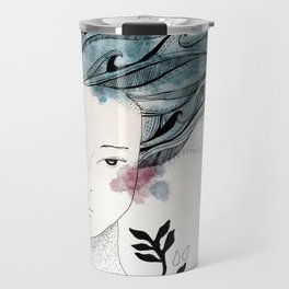 One With the Sea // ink //watercolor   Travel Mug