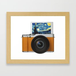 Photo Camera Painting Framed Art Print