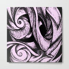 Swirl (black and pink) Metal Print