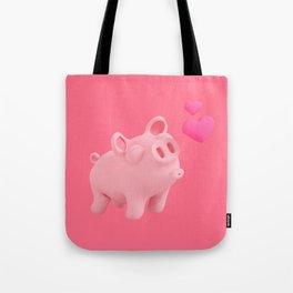 Rosa the Pig kisses Tote Bag