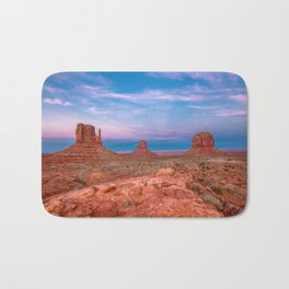 Westward Dreams - Sunset in Monument Valley Bath Mat