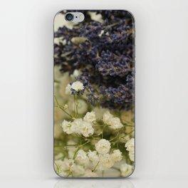 Lavender on gypsophila iPhone Skin