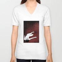 lolita V-neck T-shirts featuring Lolita by Merwizaur