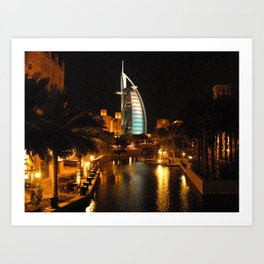 Burj Al Arab Hotel - Dubai Art Print