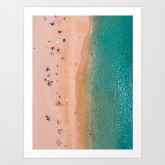 On a Beach in Hawaii Art Print