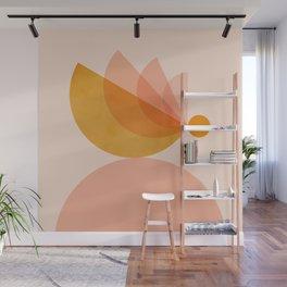 Abstraction_BIRD_Balance_Mountains_Minimalism_001 Wall Mural