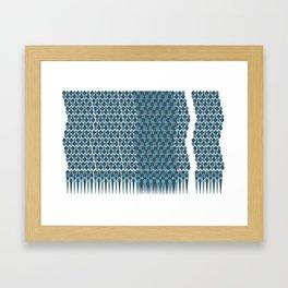 Cubist Ornament Pattern Framed Art Print