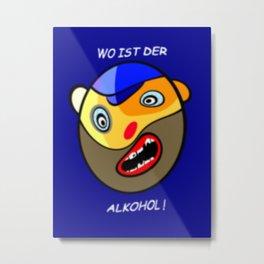 Willi Wodka. Metal Print