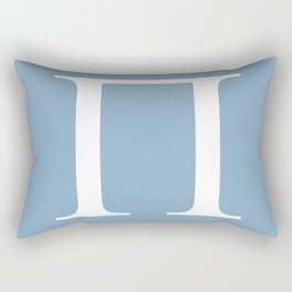 Greek letter Pi sign on placid blue background Rectangular Pillow