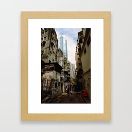 Hong Kong Alley Framed Art Print