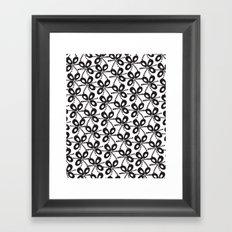Quirky Black & White Framed Art Print