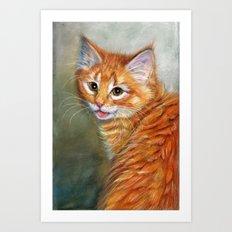 Ginger Kitten 1 Art Print