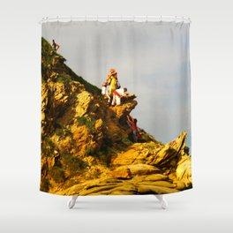 Huichol Sunset Shower Curtain