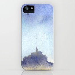 Mt St Michel and red baloons iPhone Case