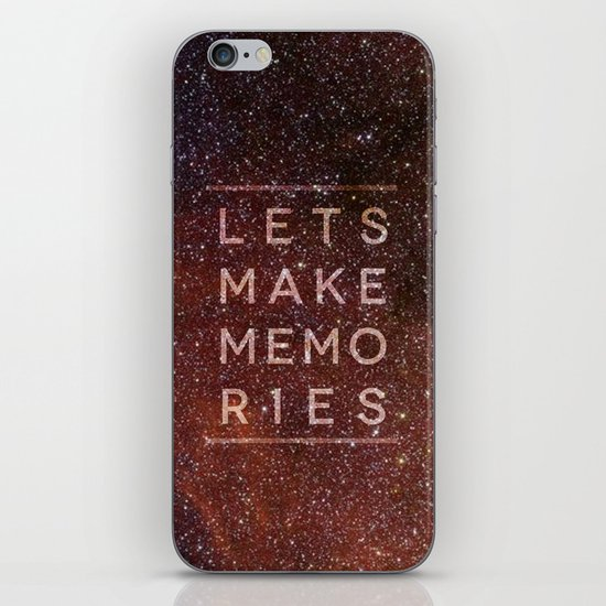 Let's Make Memories iPhone & iPod Skin