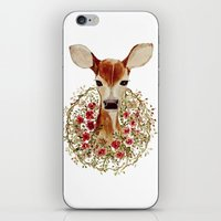 fawn iPhone & iPod Skins featuring Fawn  by craftberrybush