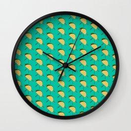 Tacos in flight Wall Clock